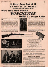 1933 AD WINCHESTER MODEL .52 TARGET RIFLES YOUNGSTOWN HUGHES MAHONING CITY BANK