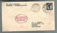 1930 Dortmund Darmstadt Germany Graf Zeppelin LZ 127 Cover to Cottbus