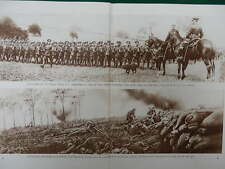 1915 INNS OF COURT OTC, EVELYN WOOD; CAPTURED GERMAN TRENCH WWI WW1 DOUBLE PAGE