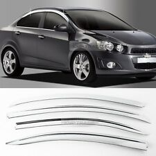 Chrome Window Sun Vent Visor Rain Guards 4P A490 For CHEVY 2011-2017 Aveo Sedan