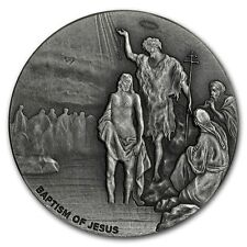 BAPTISM OF JESUS - 2017 2 oz Silver Coin - Biblical Series Scottsdale Mint NIUE