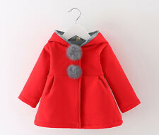 Newborn Infant Girl Warm Outerwear Hooded Coat Cotton Jacket Winter Kids Clothes