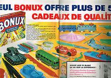PUBLICITE ADVERTISING 104  1963  BONUX  lessive  ( 2 pages) cadeaux offerts