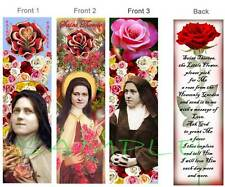 3- SAINT THERESE RELIGIOUS BOOKMARK-Prayer Card St Teresa of Lisieux/Child Jesus