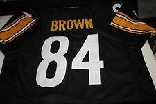 PITTSBURGH STEELERS #84 ANTONIO BROWN CUSTOM HOME JERSEY PRO BOWL WR SIZE XXL
