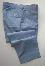 $195.00 New Hugo Boss James Brown Seersucker 100% Cotton Mens Pants Sz 36 X 30