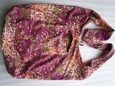 Schultertasche Beuteltasche Shopper Blumen Umhänge Tasche Flower Hippie 03019