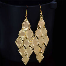 Women Drop Earrings 18K Gold Plated Fashion Hook Dangle Earrings Hot Jewelry