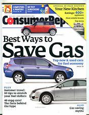 Consumer Reports July 2011 Best Ways To Save Gas EX 032116jhe