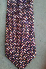 NWOT. KENZO Homme Silk/Polyester Navy Patterned Jacquard Tie