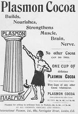 PLASMON COCOA - Antique Edwardian Advert 1903