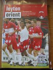 02/10/2002 Leyton Orient v Birmingham City [Football League Cup] . Item In very