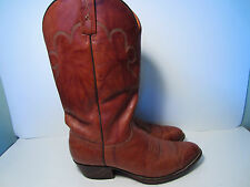 J Chisholm  Brown Western Cowboy Boots Size 10.5 D