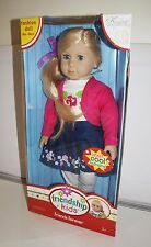 "NIB Kingstate Dollcrafter 'FRIENDS FOREVER' 18"" Doll FRIENDSHIP KIDS COLLECTION"