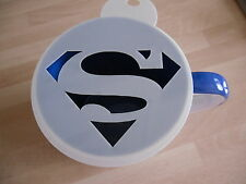 Laser cut superman design coffee and craft stencil
