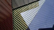 "Carbon Fiber Kevlar Fiberglass Panel 12""×18""×2mm Glossy Both Sides COLOR CHOICE"