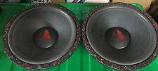 "Pair Old School Stanford Acoustics Volcano 12"" subwoofers,Rare,Vintage,USA,SQ"