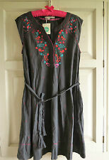 BNWT Boden Amelia Dress UK 14 R (US 10 EU 40 42) Storm Grey