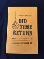 BID TIME RETURN BY RICHARD MATHESON *SIGNED UNCORRECTED PROOF*