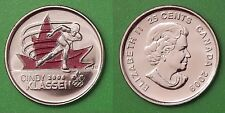 2009 Canada Cindy Klassen 25 Cents Special Colorful Issue From Mint Roll