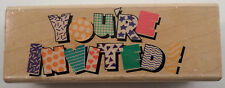 Posh Impressions You'Re Invited Party Writing Stampede  Wooden Rubber Stamp