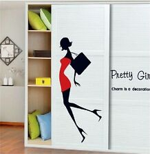 Women Pretty Girl Wall Sticker Decor Art Vinyl Room Window Closet Home Decal