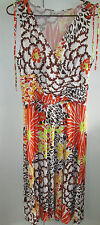 Ladies Summer Dress Size M Drape Bust Tie Sleeveless Top Straps