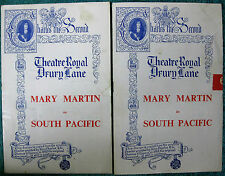 "Theatre Program- Mary Martin 1951- THEATRE ROYAL Drury Lane- ""South Pacific"""