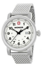 Wenger  Women's Silver Dial White Stainless Steel Bracelet Watch 1021.103