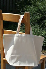 Recycled  Plain Natural Heavy Cotton Canvas Shopper Tote Bag Plain 36*48*19