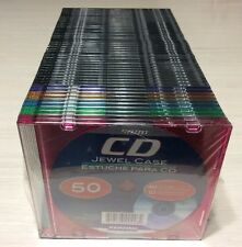 Kensiko 5mm CD Jewel Case-50 Jewel cases (40 Clear & 10 Translucent) New/Sealed
