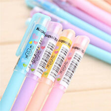 4pcs Candy Color Slim Gel Ball Point School Stationary Office Pens Ballpen
