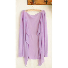 Women Bright Color Long Sleeve Cotton Cardigan Jacket Sunscreen Outwear Shirts