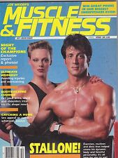 OCT 1985 MUSCLE & FITNESS bodybuilding magazine SYLVESTER STALLONE