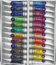 REEVES 24 PC OIL PAINT SET w/ BRUSHES, CANVAS, PALETTE ~ FREE SHIPPING!!