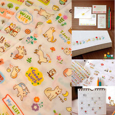 New Cute 6 Sheet Cat Paper Stickers for Diary Scrapbook Book Wall Decor Skin