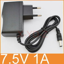 AC Switching power supply DC 7.5V 1A Adapter 1000mA Charger EU plug 5.5mm x 2.1