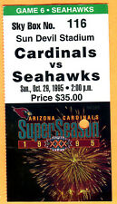 10/29/95 SEA SEAHAWKS/AZ CARDINALS TICKET STUB