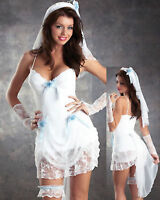 Madonna Virgin Bride 80s Clothing Fancy Dress Hens Party Costume Outfit
