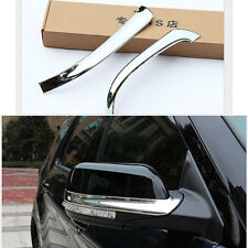 Fit For Ford Explorer 2016 2017 ABS Chrome Car Rearview Mirror Trim Cover 2pcs