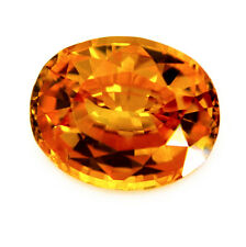Certified Natural Ceylon Golden Yellow Sapphire 1.20 ct Oval VVS Clarity Gem
