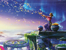 BLESSING Magic Leaves Woman Fantasy Glow In Dark BOXLESS Jigsaw Puzzle 100%