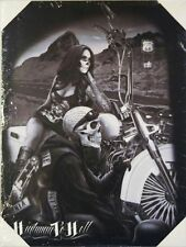 DGA Motorcycle Biker Day of the Dead Stretched Canvas Wall Art Highway to Hell