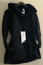 LULULEMON RUN FOR COLD PULLOVER Primaloft Water Protection GLYDE Black 12 NWT