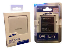 GENUINE SAMSUNG GALAXY S4 i9500 i9505 SPARE BATTERY USB CHARGER KIT- WHITE
