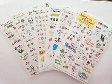 6 X Sheets cute Little Pig Stickers - Planner Labels Journal Diary kawaii
