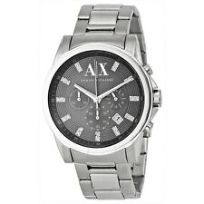 Armani Exchange AX2092 Men's Silver Tone Stainless Steel Band Silver Dial watch