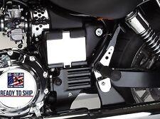 neue Chrom Zierblende für Batteriekasten Triumph America + Speedmaster