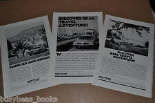 1972 Airstream Trailer advertisements x3, AIRSTREAM Land Yachts Travel Trailers