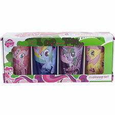 4 My Little Pony Glasses 16 oz Drinking Glassware Set Butterscotch Rainbow Dash